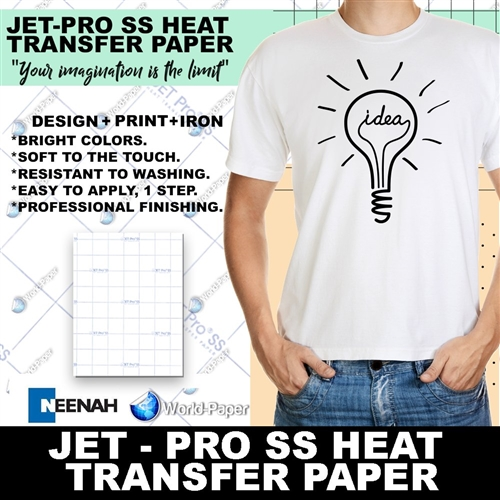 Jet Pro Sofstretch Inkjet Heat Transfer Paper 11 Quot X 17 Quot
