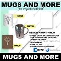 Mugs'n More Transfer Paper 11x17 for hard coated items (25 sheets)