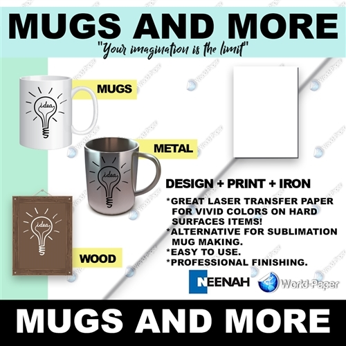 Mugs'n More Transfer Paper 8.5x11 for hard coated items